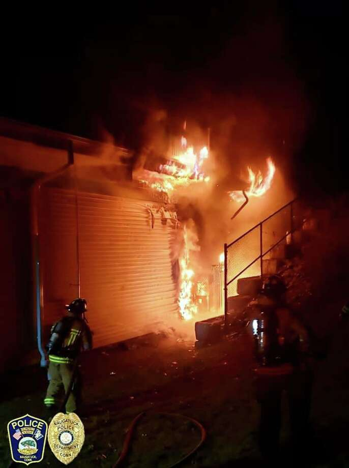 Firefighters battled a fire at Cumberland Farms, 527 North Main St. in Naugatuck, Conn., on Saturday, Nov. 30, 2019. Photo: Contributed Photo / Naugatuck Police Department