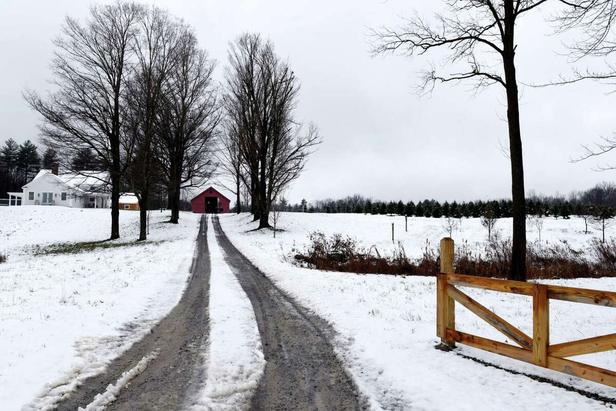 Driveway to Boulder Brook Farm, where owner Peter Brooks has started a Christmas tree farm on Wednesday, Nov. 20, 2019, in Malt, N.Y. (Will Waldron/Times Union)