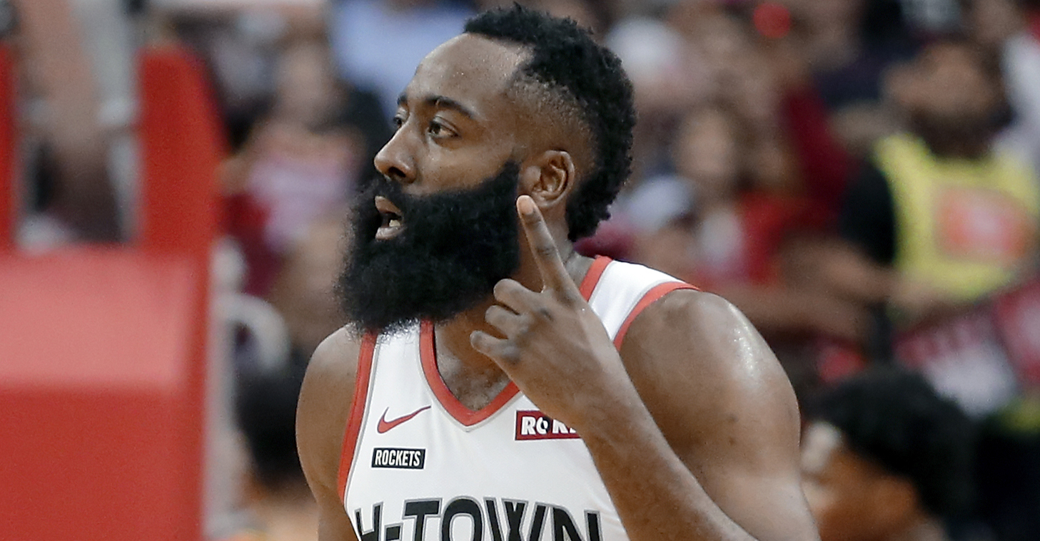 James Harden explodes for 60 points as Rockets crush Hawks
