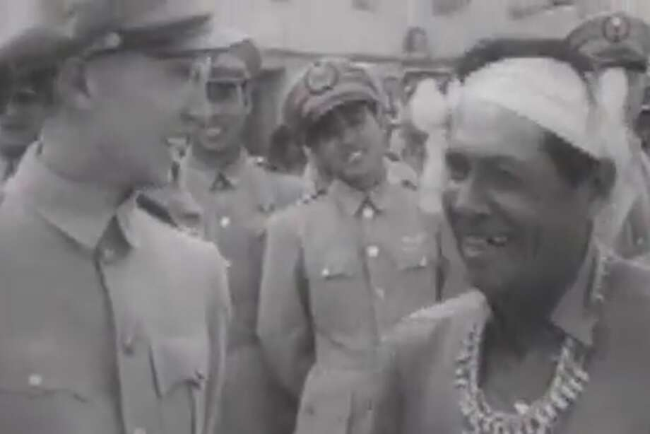 The Chinese pilots with the Native American Indian is from a short documentary from 1944 courtesy of the National Archives. Photo: National Archives/Courtesy Photo