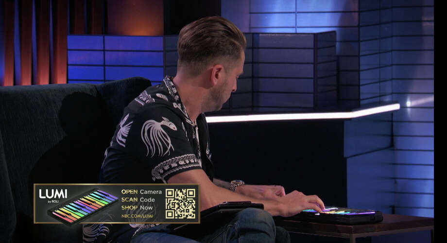 "An image from NBC's ""Songland"" illustrates how the network is embedding QR codes in some shows that allow viewers to shop online using their smartphones. In this image, Ryan Tedder, a Grammy Award-winning singer and producer featured as a judge on the show, plays a keyboard called Lumi that viewers were able to purchase. MUST CREDITL: NBCUniversal Photo: NBCUniversal / NBCUniversal"