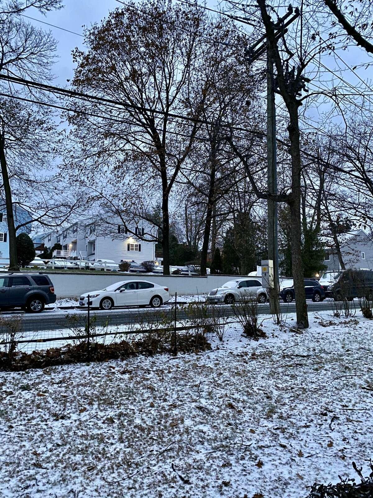 Snowfall in Norwalk, Conn. on December 1st