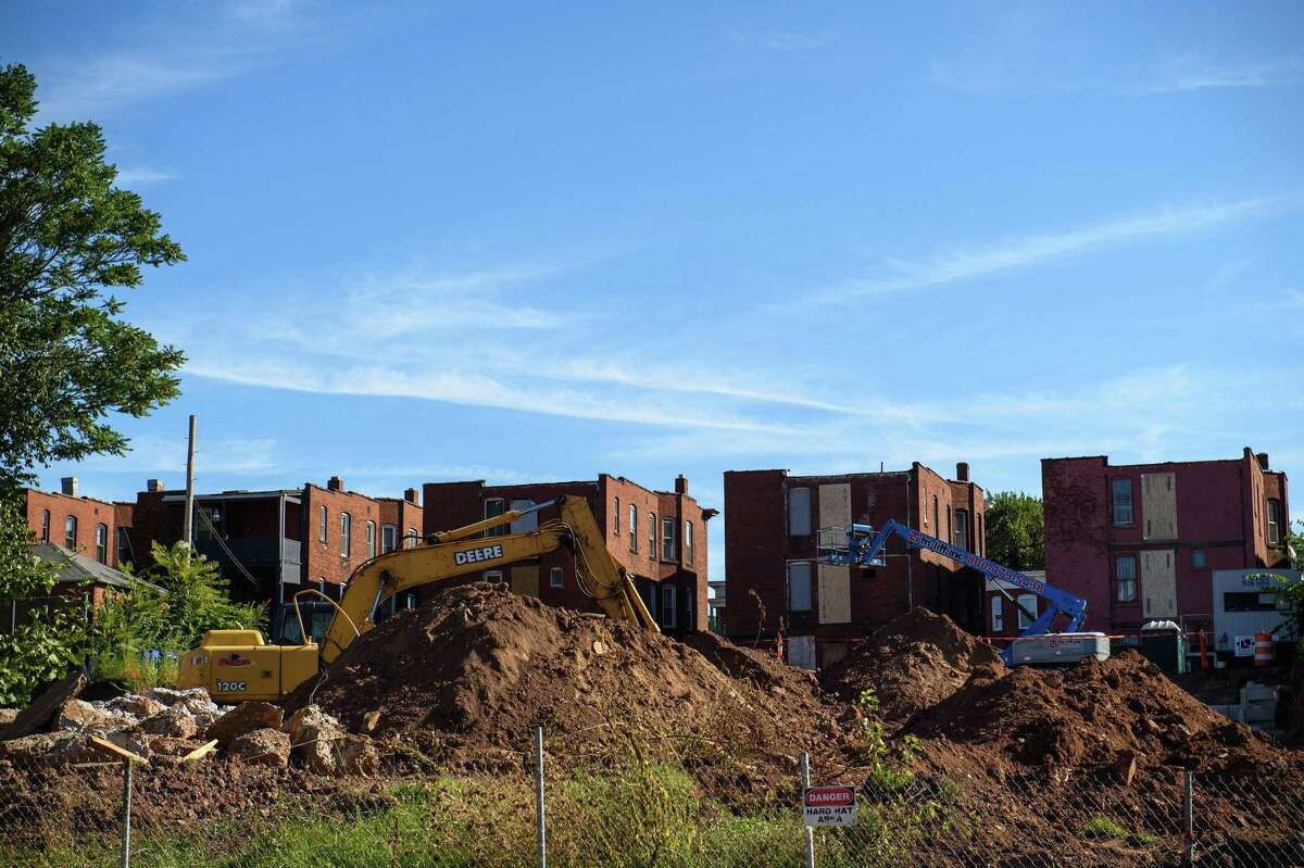 The construction site for the new development on Park Terrace and Park Street in the Frog Hollow neighborhood in Hartford.