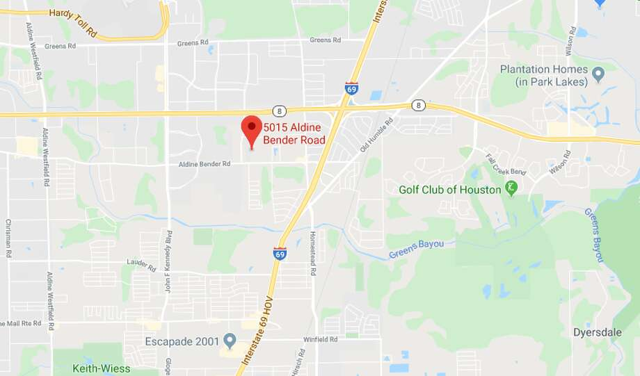 A man was found dead in the back seat of a car Sunday in the 5000 block of Aldine Bender, according to the Harris County Sheriff's Office. Photo: Google Maps