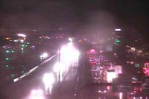 An accident closed two lanes of Interstate 95 southbound in New Haven Dec. 1, 2019.