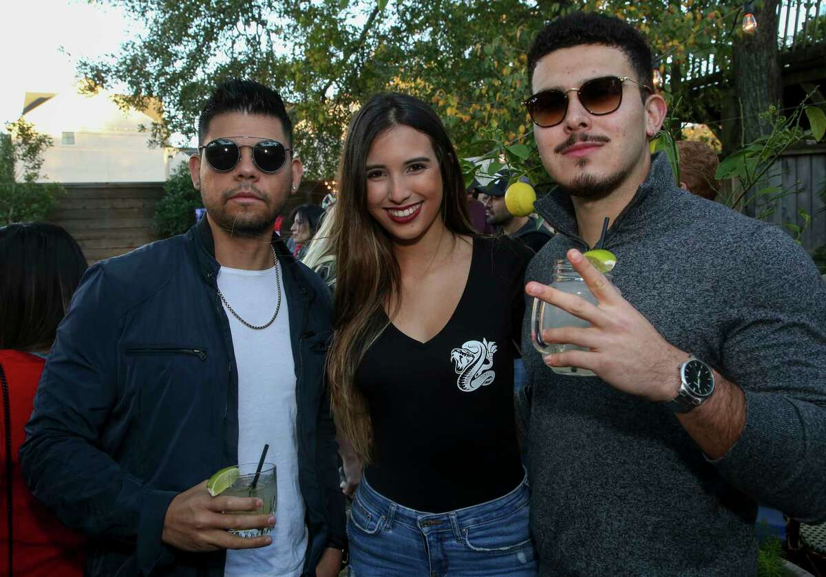 People attending the Houston Texans vs. New England Patriots tailgate party at B.B. Lemon on Washington Avenue Sunday, Dec. 1, 2019, in Houston. The event was hosted by Javier Loya and his new Houston-based tequila company, Veneno.