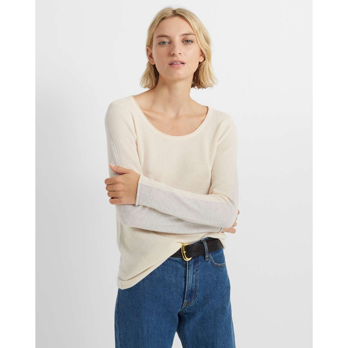 This women's cashmere sweater at Club Monaco gets all the way down to $54 after an extra 40 percent off the sale price and 30 percent off all purchases.
