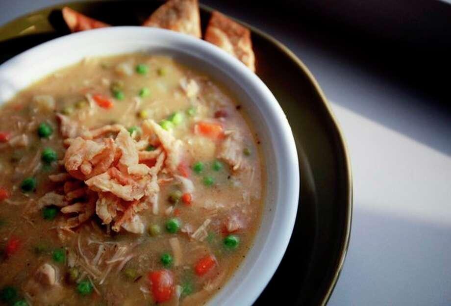 Thanksgiving leftovers: Turkey Pot Pie Soup. (Regina H. Boone/Detroit Free Press/TNS) / Detroit Free Press