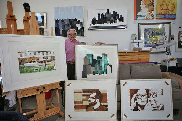 Scott Glaser, seen in his studio, presents his latest work in Greenwich.