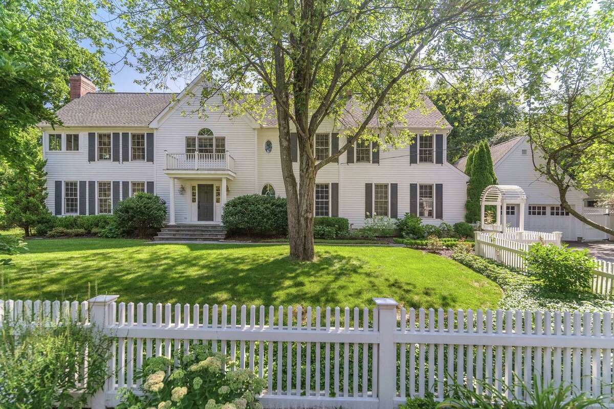 This classic colonial, with four bedrooms and a gourmet kitchen, is sited on a fully fenced lot in Riverside, at 5 Verona Drive. The property is listed for $2.65 million by Sotheby's International Realty.