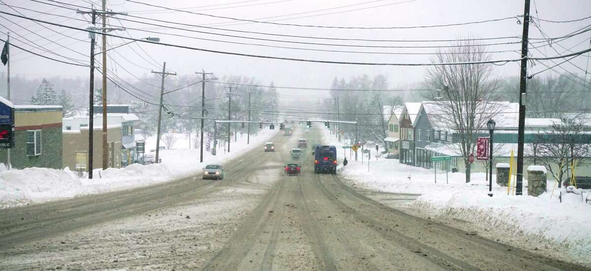 A view looking down Routes 9 & 20 on Monday, Dec. 2, 2019, in East Greenbush, N.Y. (Paul Buckowski/Times Union)
