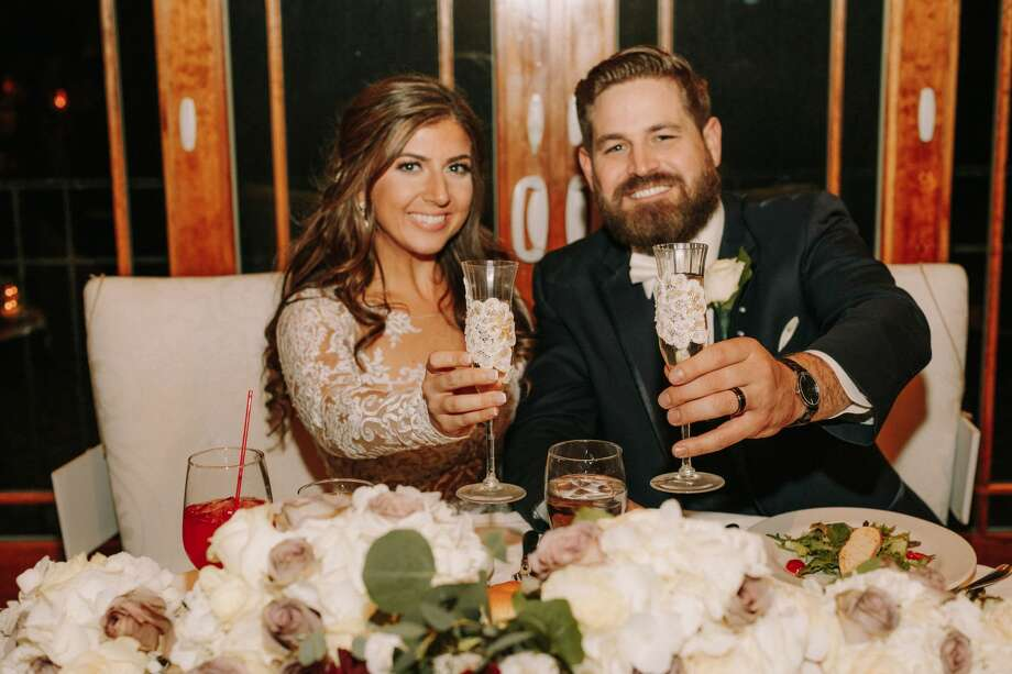 San Antonio TV news reporter Ariana Lubelli married her husband Curtis Brown after meeting during a news interview. Photo: The Ramsdens