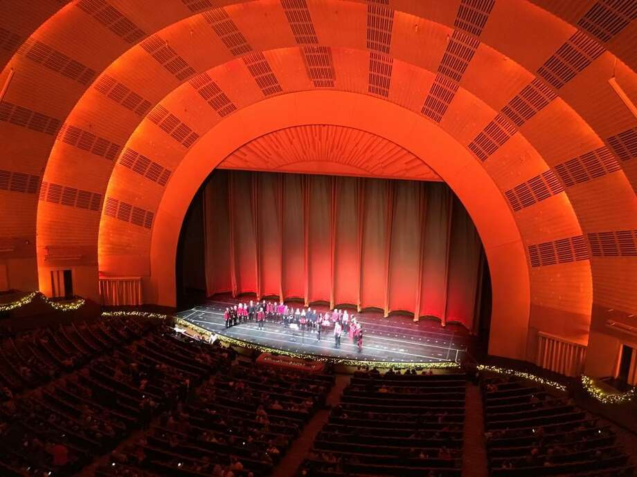 The Trumbull High School Honors Chamber Choir recently performed in New York City, opening the Radio City Music Hall Christmas Spectacular. Photo: Contributed / Trumbull Times Contributed