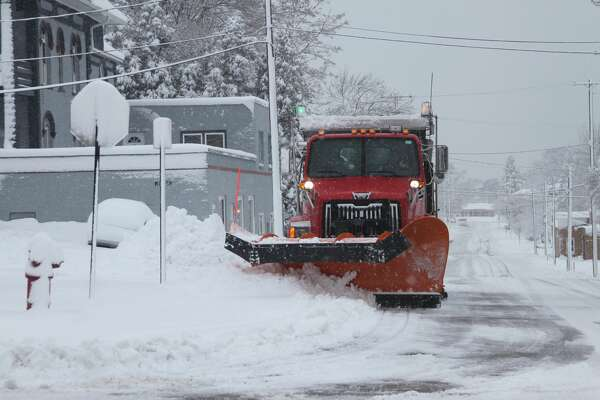 Manistee County residents woke up to several inches of snow on Sunday.