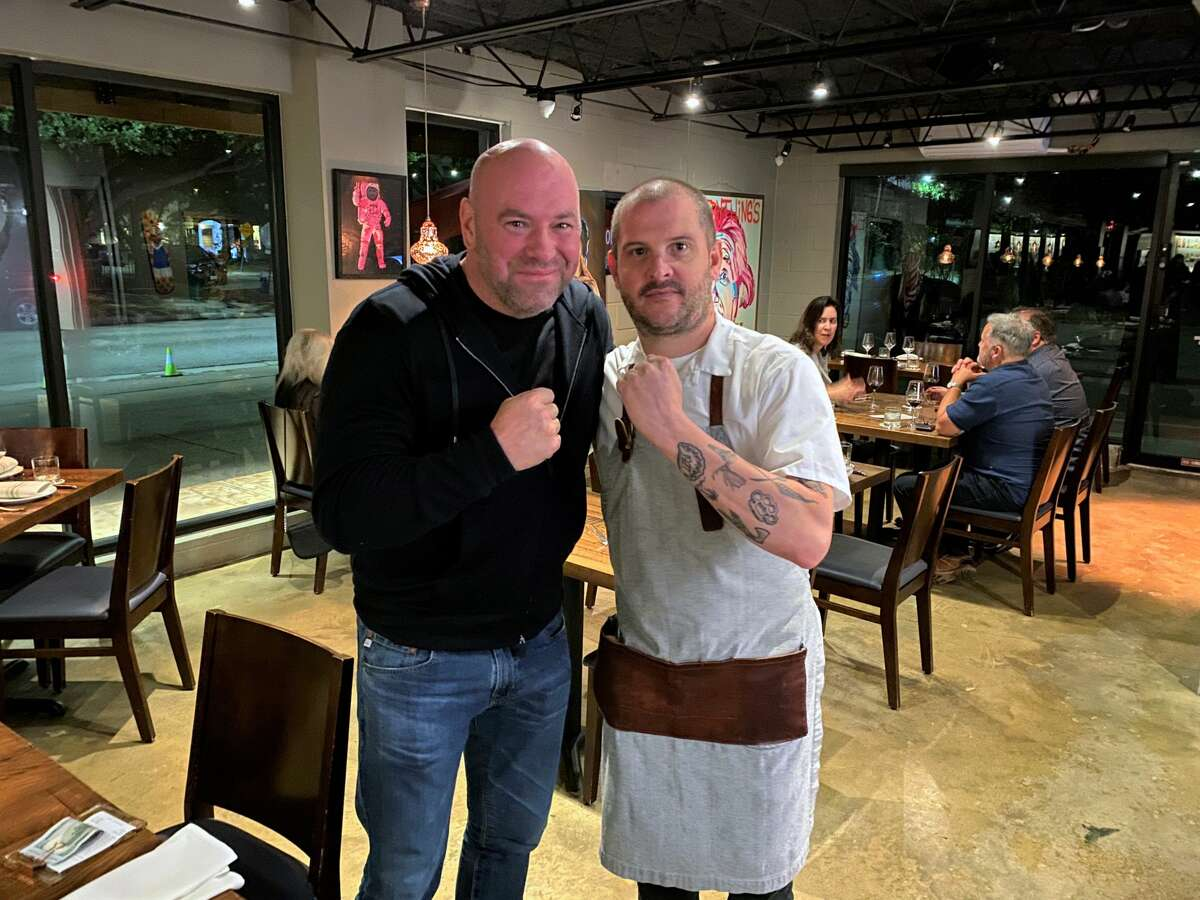 White and his companions kept to themselves aside, from visiting with chef/owner Ryan Lachaine and local artist Donkeeboy, who helped set up the visit through his longtime friend, UFC matchmaker Mick Maynard.
