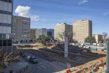 On the site of the Western United Life Building and the lot where the Building of the Southwest once stood could be built a hotel -- a big step in the continuing transformation of downtown.
