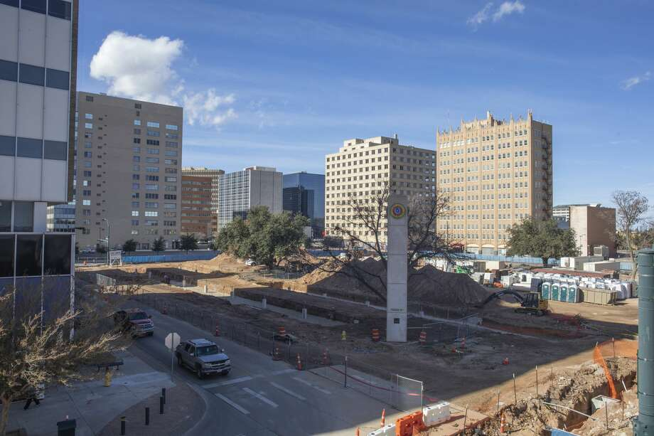 On the site of the Western United Life Building and the lot where the Building of the Southwest once stood could be built a hotel -- a big step in the continuing transformation of  downtown. Photo: Jacy Lewis/Reporter-Telegram