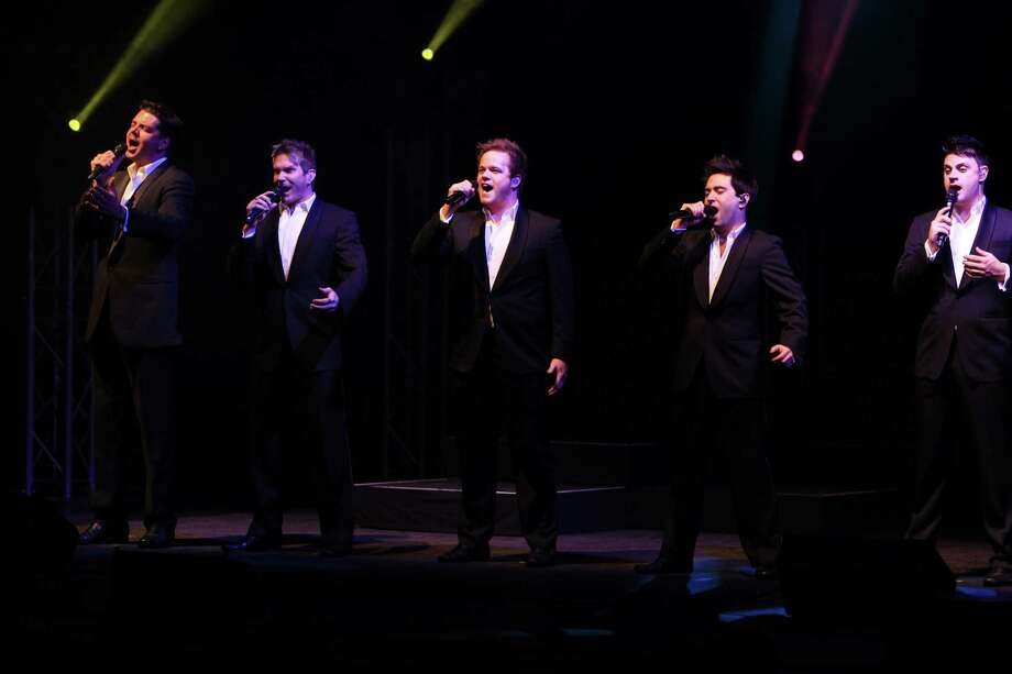 Five of The Ten Tenors belt out a song in a German concert. Photo: Brill/ullstein Bild / Getty Images / ullstein bild