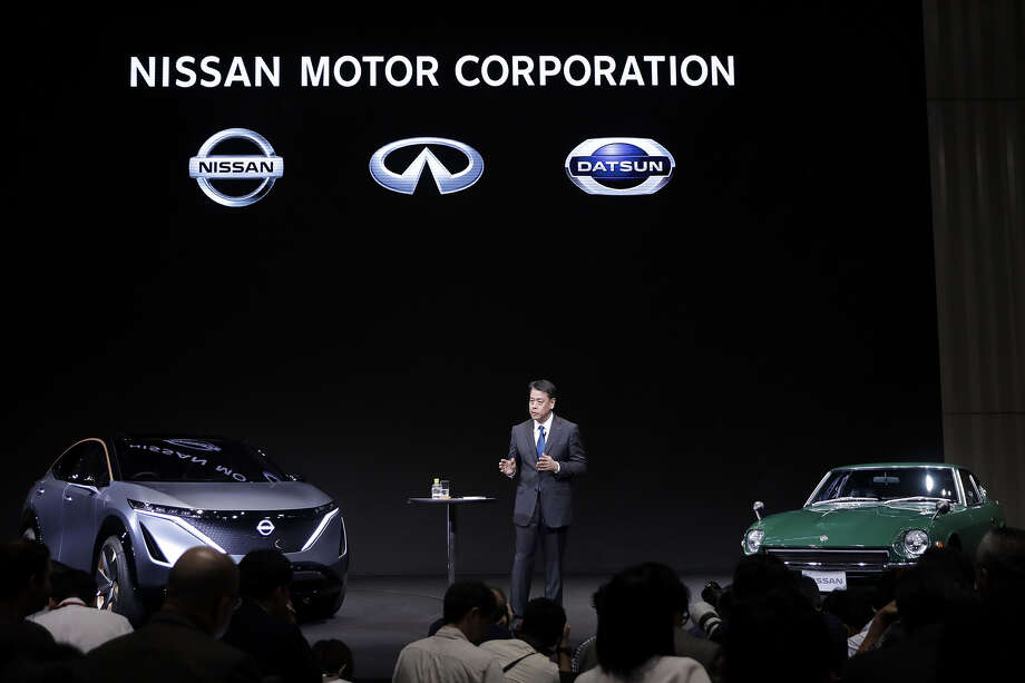 Makoto Uchida, president and chief executive officer of Nissan Motor, speaks during a news conference at the company's global headquarters in Yokohama, Japan, on Monday. Photo: Bloomberg Photo By Kiyoshi Ota / Bloomberg