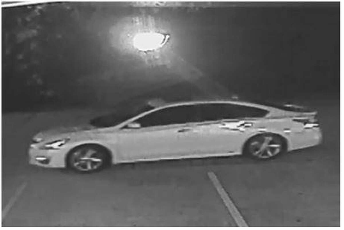 Authorities say two men fled the scene of a burglary on Glen Loch Drive in The Woodlands in this Nissan Altima