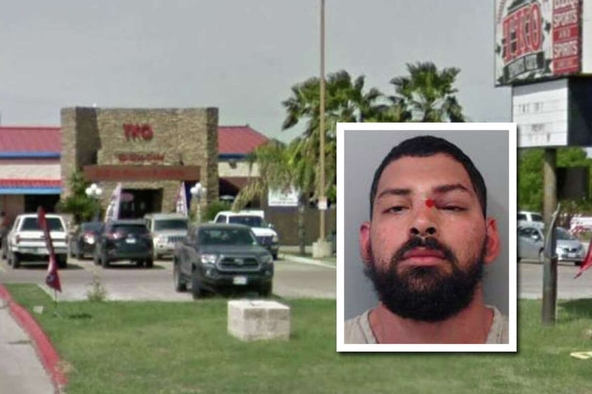 A man landed behind bars for allegedly assaulting a Laredo police officer following a disturbance reported at a north Laredo bar.