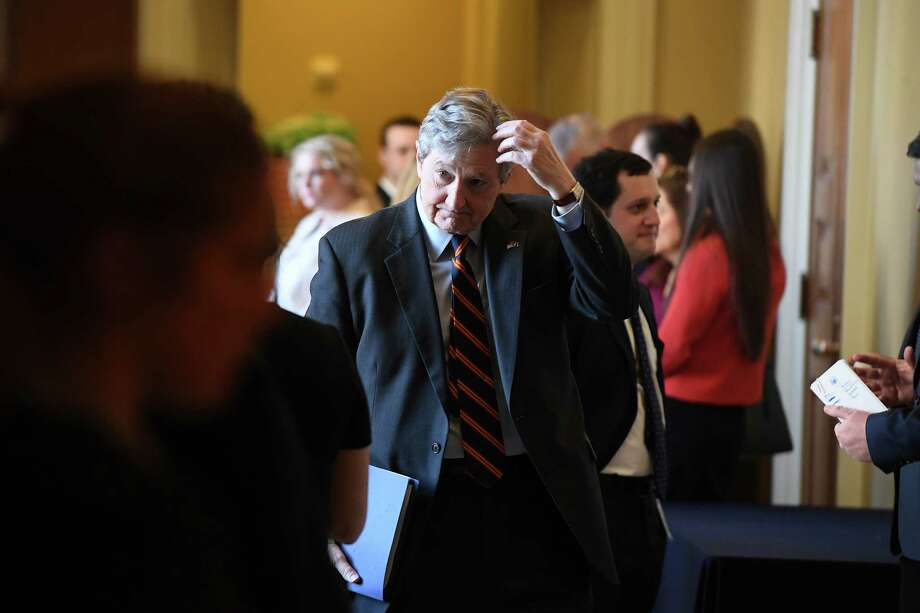 Sen. John Neely Kennedy, R-La., at the United States Capitol in March. Photo: Washington Post Photo By Matt McClain / The Washington Post