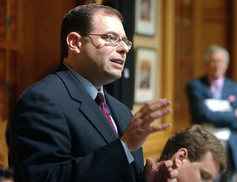 Ross H. Garber speaks to the committee that was investigating his client, John Rowland, in 2004. Photo: File Photo