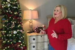 LindaEdmiaston shares a story about the ornaments on the Christmas tree at her Sugar Creek home.