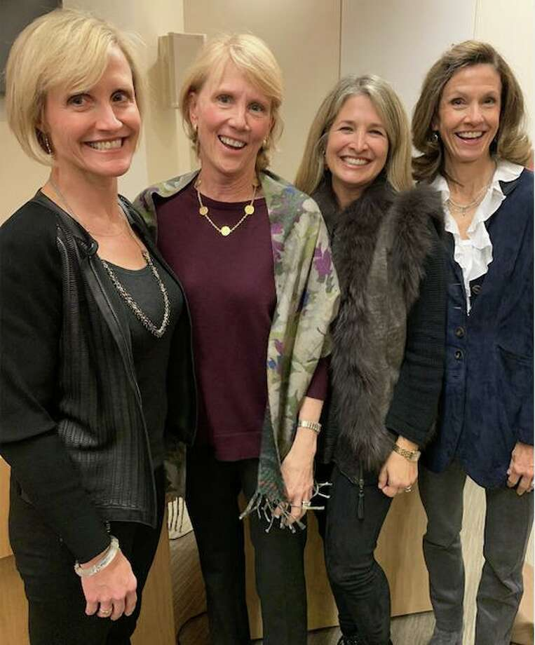 New Canaan Community Foundation Award recipients Carolyn Woodberry of Darien and Kathleen Murphy, Michelle Riley and Christine Seaver, all of New Canaan. Photo: Contributed Photo