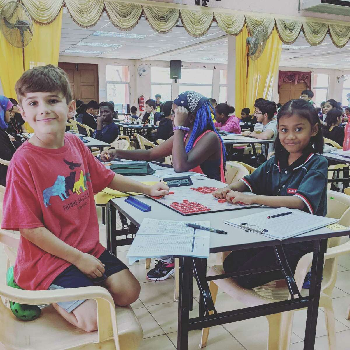 Ricky Rodriguez, 10, poses for a photo during the World Youth Scrabble Championship in Malaysia.