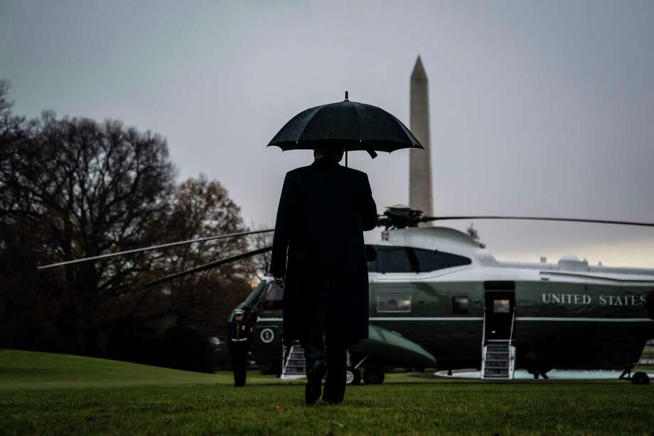 President Donald Trump leaves the White House on Dec. 2, 2019, on his way to a NATO meeting in London. Photo: Washington Post Photo By Jabin Botsford / The Washington Post