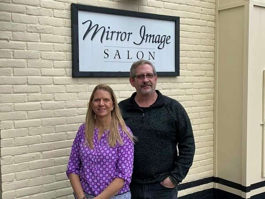 The husband-wife duo of Joyce and Randall Perry have taken over as the new owners of the Mirror Image Salon. (Mitchell Kukulka/Mitchell.Kukulka@mdn.net)