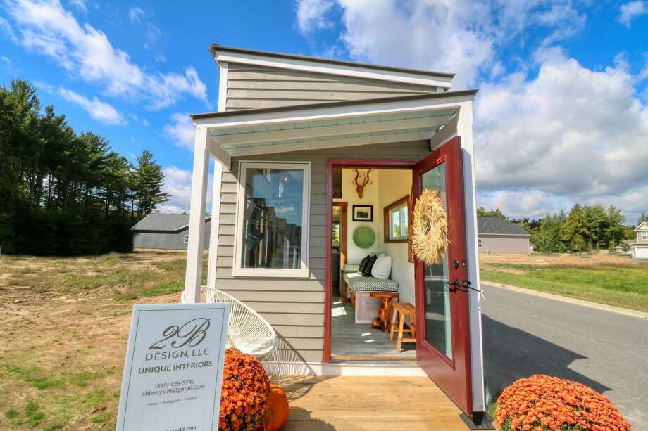 The tiny house built by high school students from Washington-Saratoga-Warren-Hamilton-Essex BOCES in Saratoga Springs was included in the 2019 Saratoga Showcase of Homes. (Photo provided by WSWHE BOCES) Photo: WSWHE BOCES / CISTOMER USE ONLY