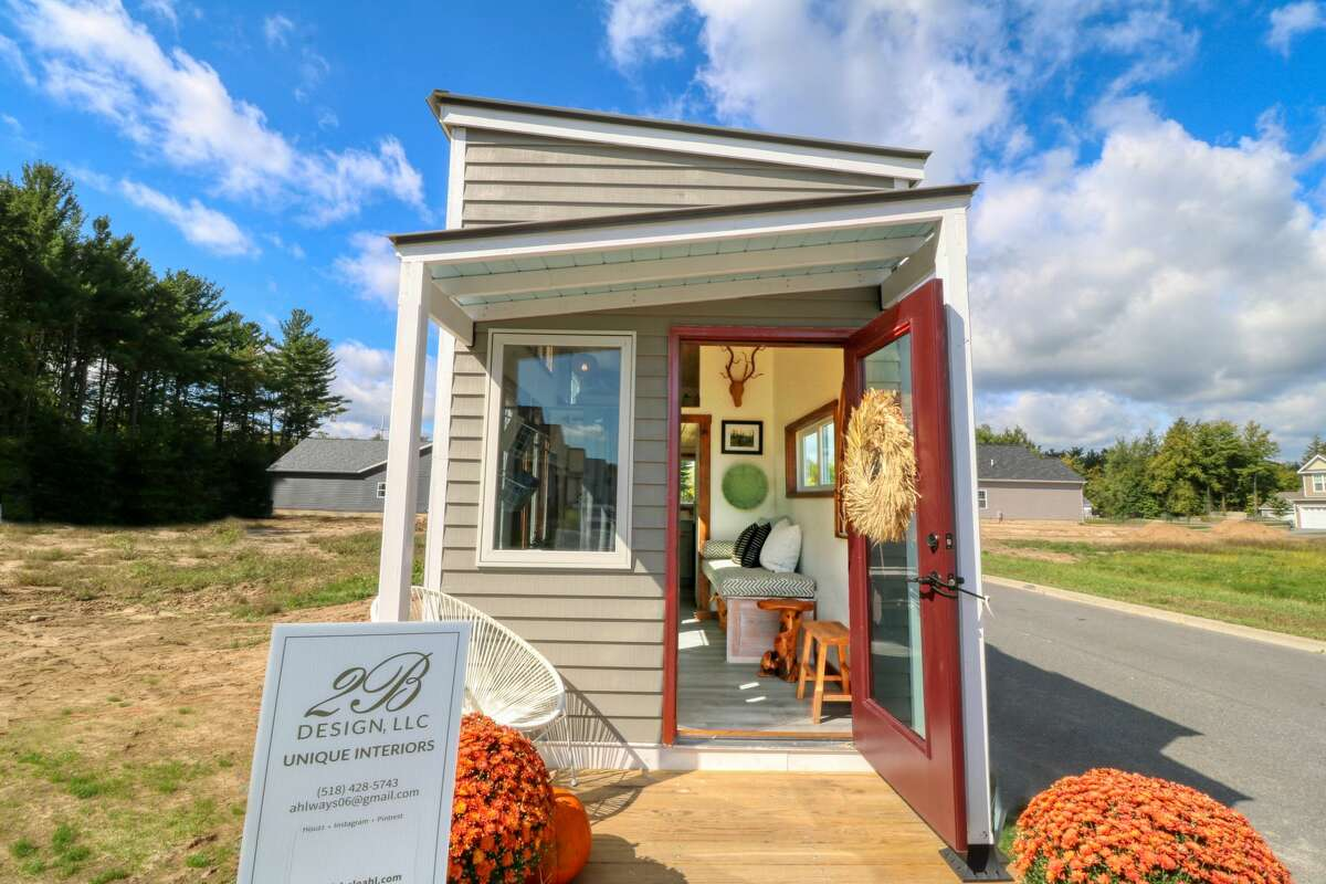 The tiny house built by high school students from Washington-Saratoga-Warren-Hamilton-Essex BOCES in Saratoga Springs was included in the 2019 Saratoga Showcase of Homes. (Photo provided by WSWHE BOCES)