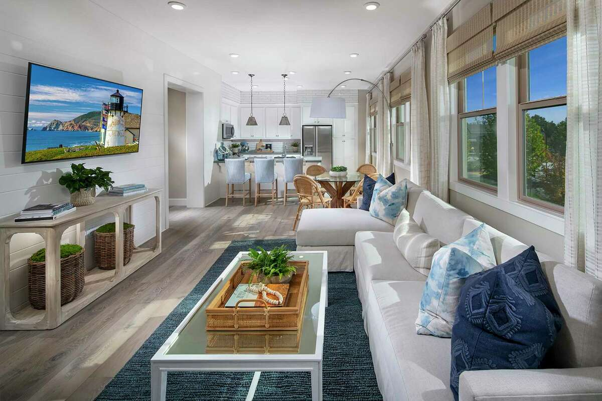 Gala's Plan 2 offers an expansive great room with open flow between the living, dining and kitchen spaces.