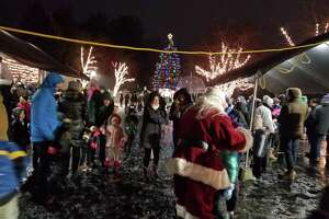 Several hundred people came out the the annual tree lighting event.