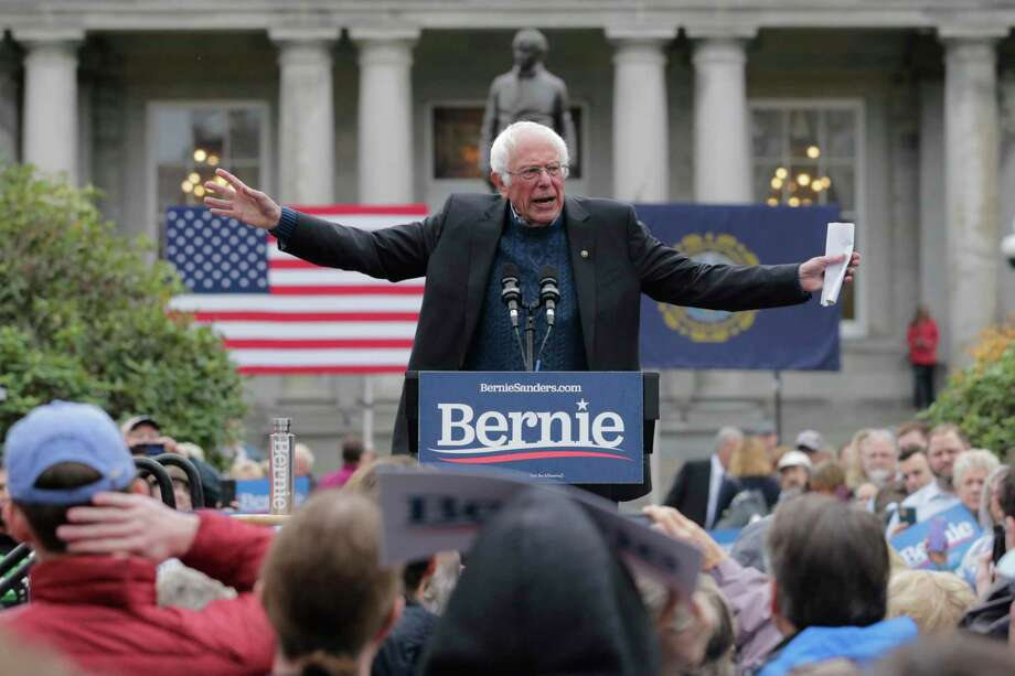 Who is the presidential candidate that all of the different Democratic factions could rally behind? It just might be Vermont Sen. Bernie Sanders. In this October photo, Sanders rallies in New Hampshire. Photo: Charles Krupa /Associated Press / Copyright 2019 The Associated Press. All rights reserved.
