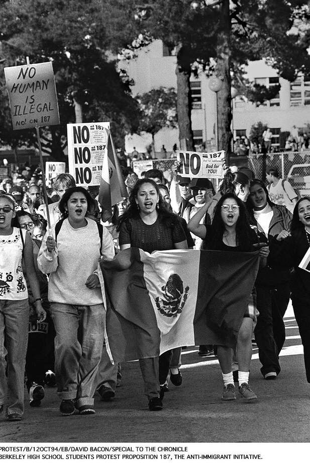 Students from Berkeley protest Proposition 187 in 1994. Photo: File Photo /San Francisco Chronicle