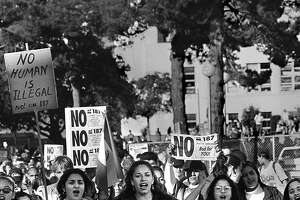 Students from Berkeley protest Proposition 187 in 1994.