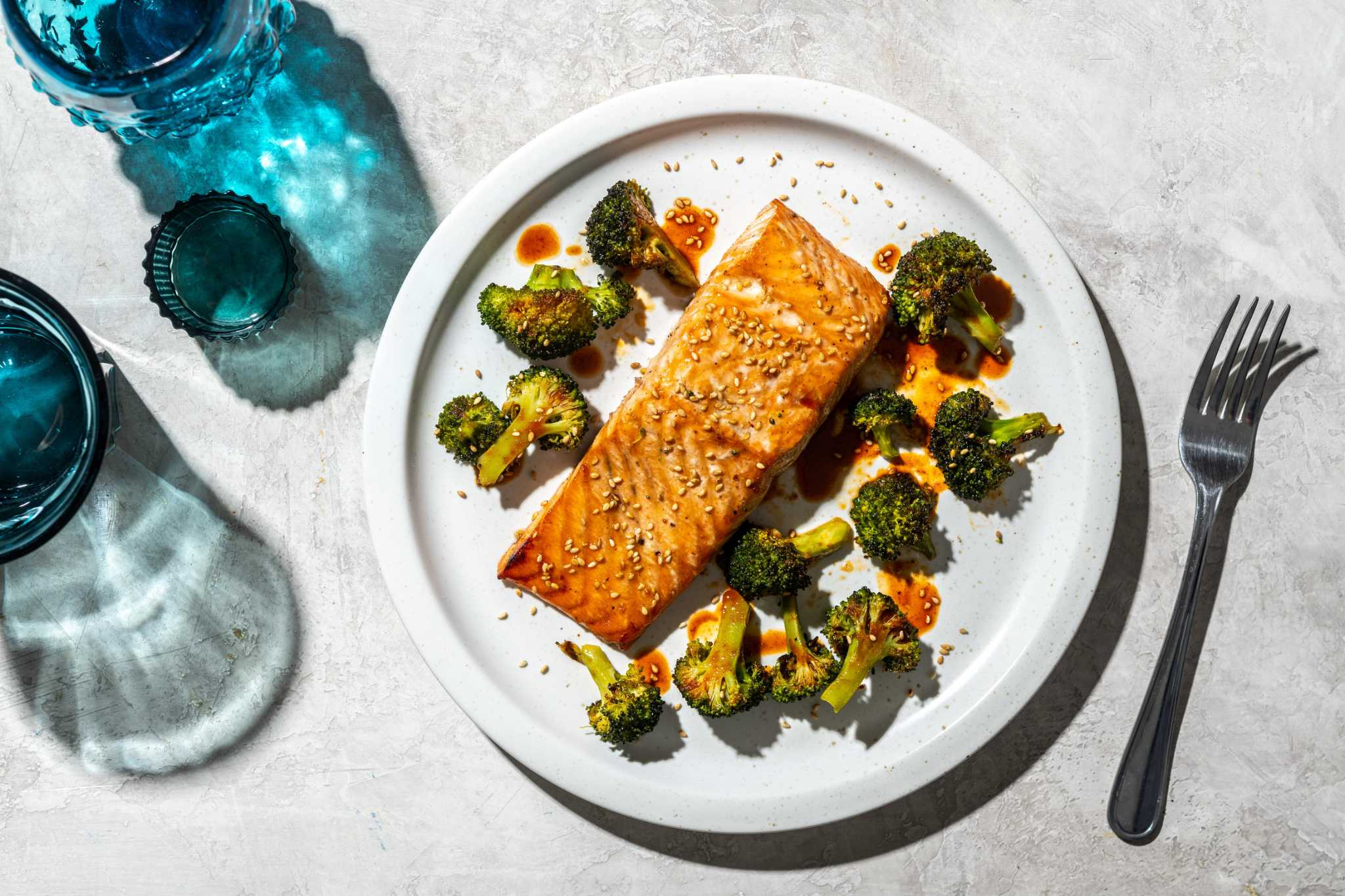 Recipe: Roasted Salmon and Broccoli with Ginger-Soy Marinade