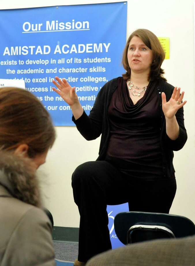 Dacia Toll, one of the founders of Amistad Academy Middle School in New Haven, in 2011. Photo: Hearst Connecticut Media File / The News-Times