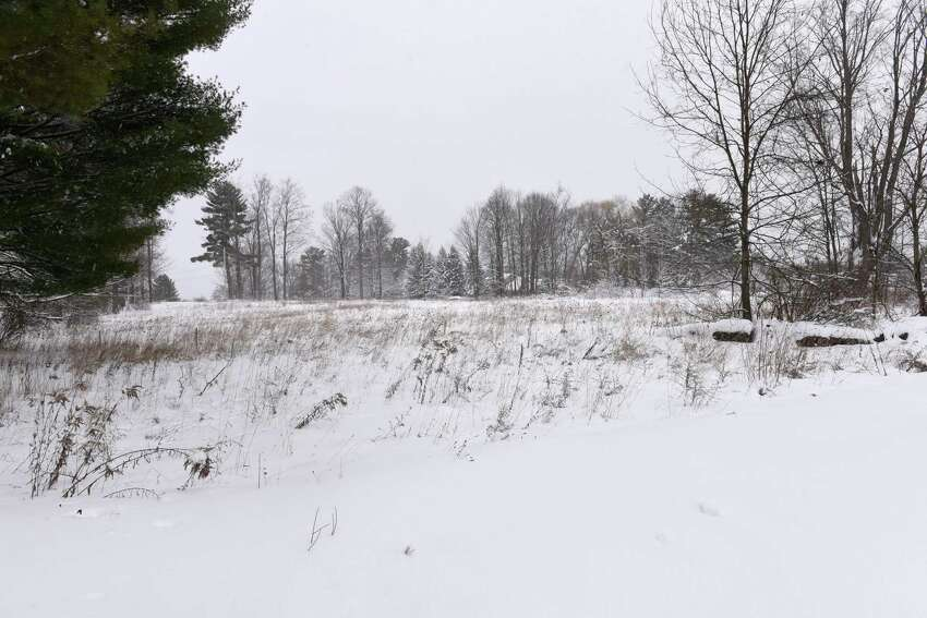 Land at the end of Myrtle Street where it intersects with Morgan Street where Saratoga Hospital plans to build on Monday, Nov. 2, 2019 in Saratoga Springs, N.Y. (Lori Van Buren/Times Union)