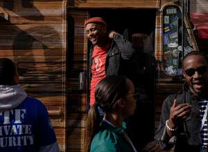Rashad Armstead, a chef and the founder of the Black Food Collective, a consortium of food trucks in Oakland, Calif., Nov. 8, 2019. Food-truck food has been showing up at hotels and business meetings as conference organizers aim to give a group a taste of local fare, but sometimes the food actually comes from hotel kitchens. (Ulysses Ortega/The New York Times)
