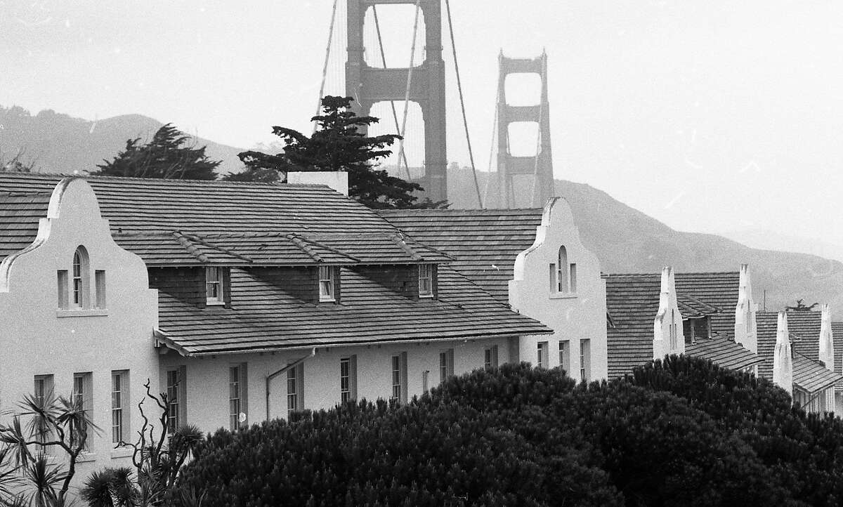 Photos of the buildings of the Presidio for an upcoming architecture column by Allen Temko, March 2, 1989