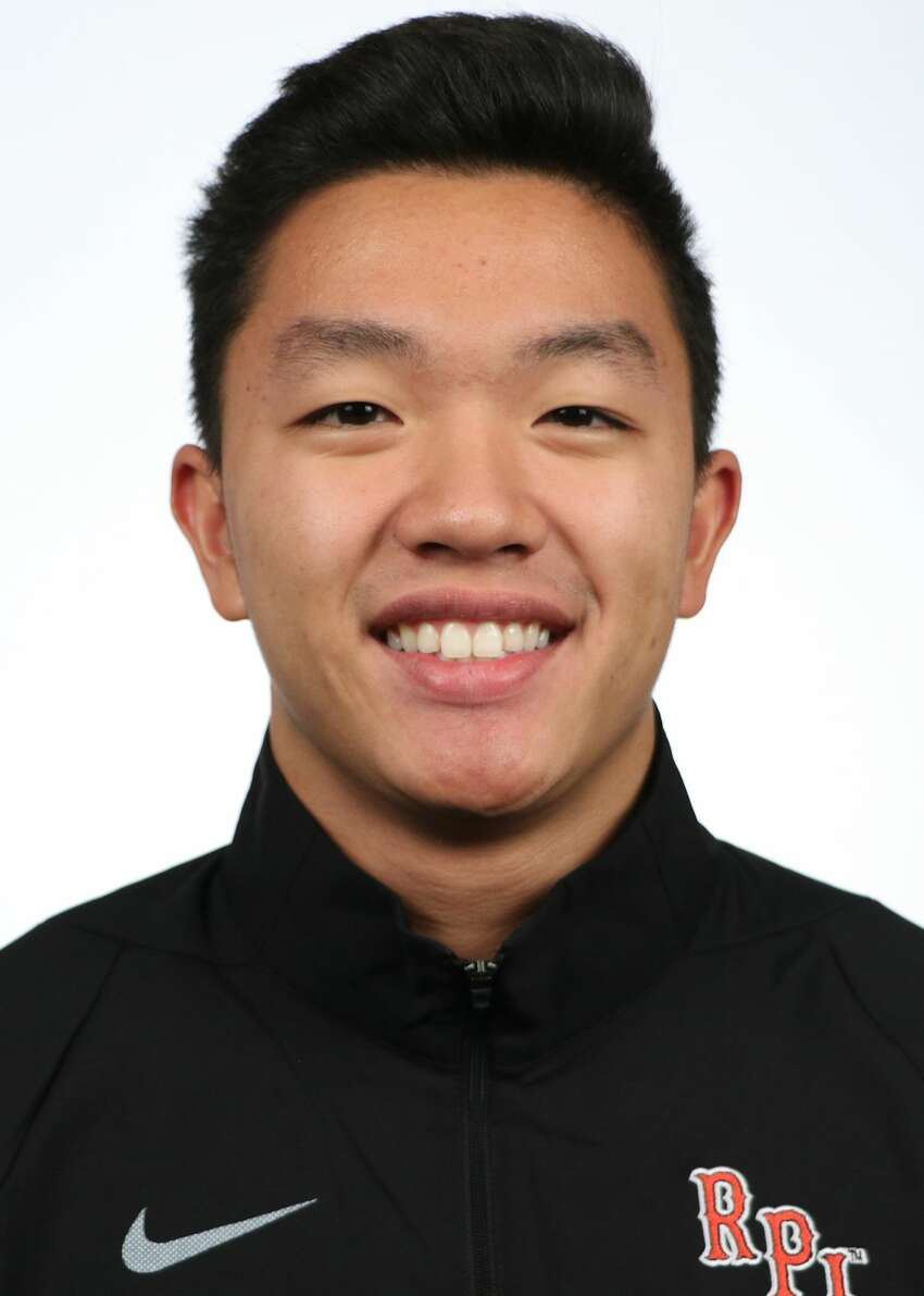 Shaker High graduate Steven Yu of the RPI men's swimming and diving team. (Courtesy of RPI Athletics)