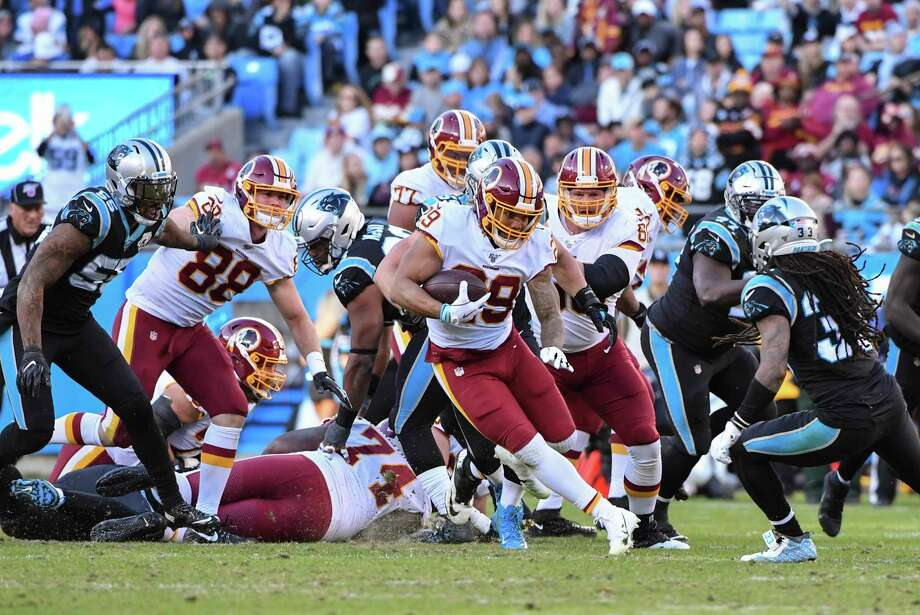 Washington Redskins running back Derrius Guice had two rushing touchdowns in Sunday's 29-21 win over the Carolina Panthers. Photo: Washington Post Photo By Ricky Carioti / The Washington Post