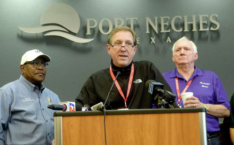 Jefferson County Judge Jeff Branick offers updates during a press conference Friday morning at Port Neches City Hall. Photo taken Friday, November 29, 2019 Kim Brent/The Enterprise Photo: Kim Brent / The Enterprise / BEN