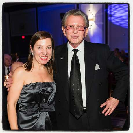 Lt. Gov. Eleni Kounalakis and George Marcus at the Elios Foundation's Hellenic Charity Ball. Nov. 16, 2019. Photo: Drew Altizer / Drew Altizer Photography
