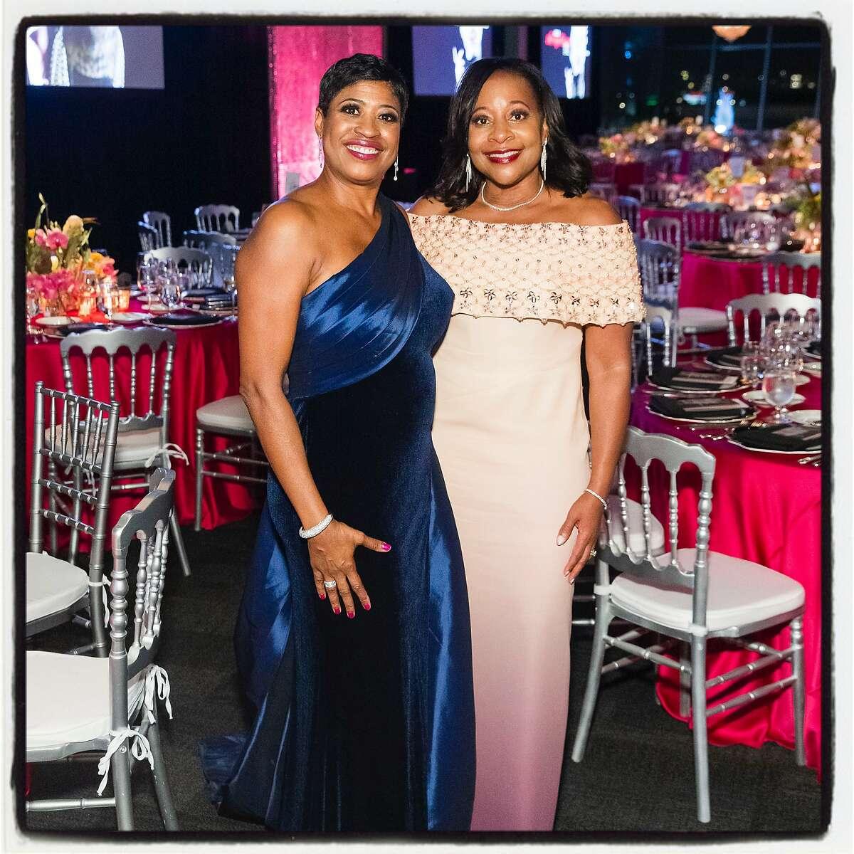 Afropolitan Ball co-chairs Beryl Potter (left) and Robin Washington Oct. 19, 2019.