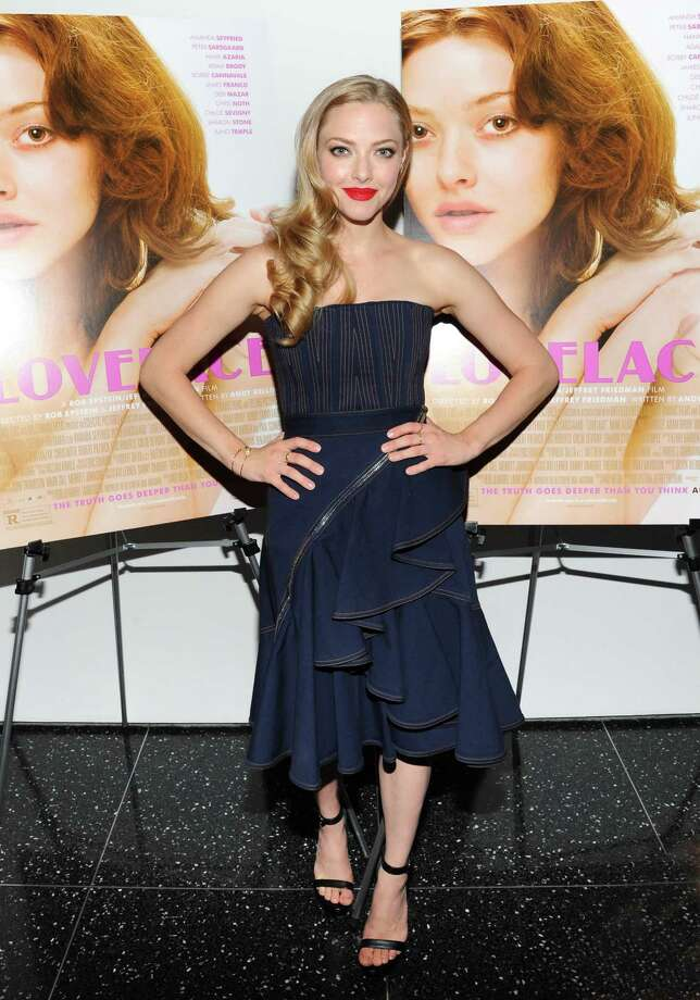 """Actress Amanda Seyfried attends a special screening of Radius TWC's """"Lovelace"""" hosted by The Cinema Society and MCM on Tuesday, July 30, 2013, in New York. (Photo by Evan Agostini/Invision/AP) ORG XMIT: NYEA124 Photo: Evan Agostini / Invision"""